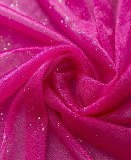 Vải voan  hồng có ánh kim